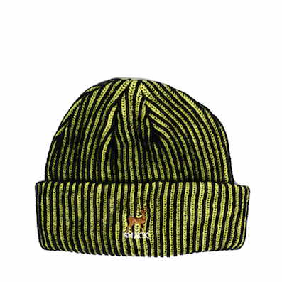 SNACK / BUCK BEANIE (Black / Yellow)