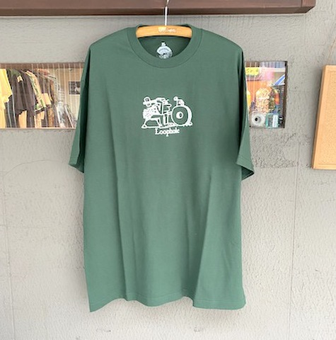 LOOPHOLE WHEELS / Inventor Tee FOREST GREEN