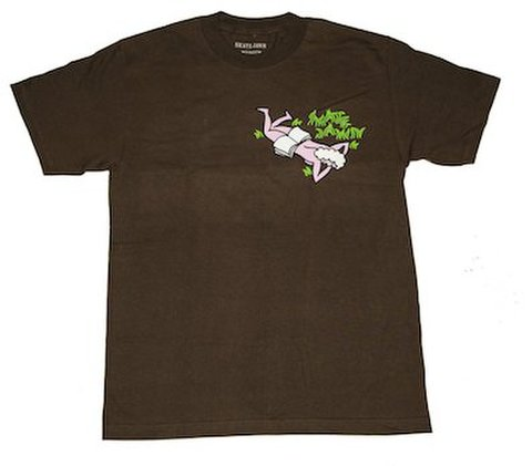 SKATE JAWN / Ass or Grass Tee - Brown