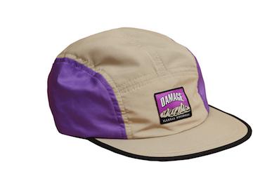 DAMAGE / ILLEGAL BUSINESS CAMP CAPS [Beige/Purple]