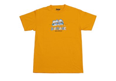 DAMAGE / HITS DIFFERENT TEE GOLD