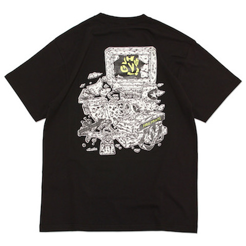 VHSMAG × HIROTTON × HAILPRINTS S/S TEE BLACK