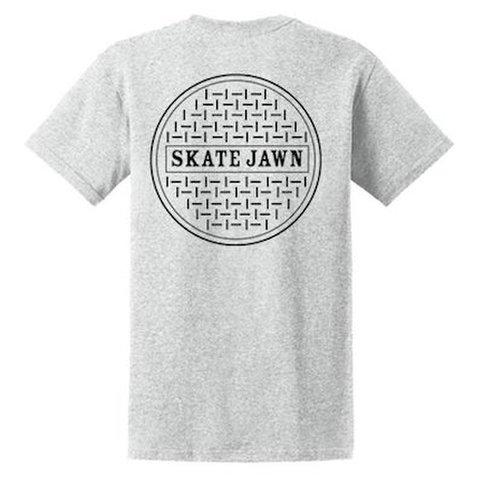 SKATE JAWN / SEWER CAP TEE - GREY