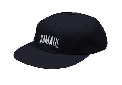 DAMAGE / 6 PANEL CAP  BLACK
