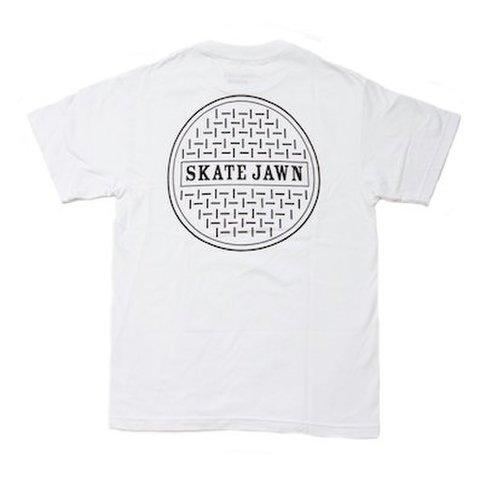 SKATE JAWN / SEWER CAP TEE - WHITE