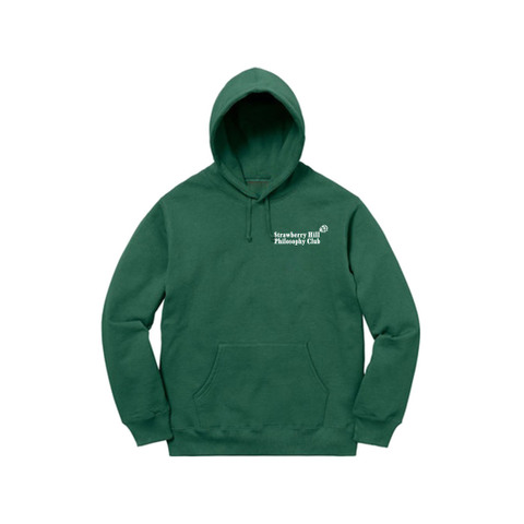 Strawberry Hill Philosophy Club / EMBROIDERED HOODIE GREEN