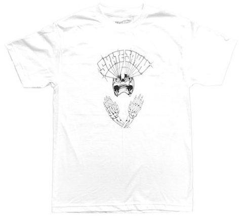 SKATE JAWN / Lazer Skull Tee - White