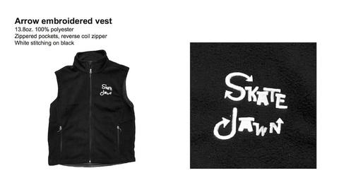 SKATE JAWN / Arrow embroiderd vest