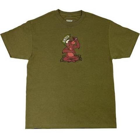 SNACK SKATEBOARDS / JUNGLE TEE ARMY GREEN