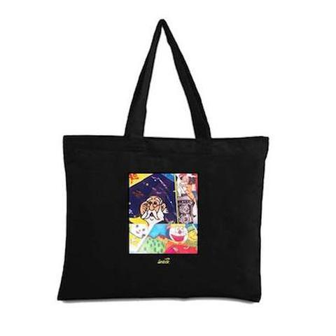 SNACK SKATEBOARDS / 'Memo Book' tote bag BLACK