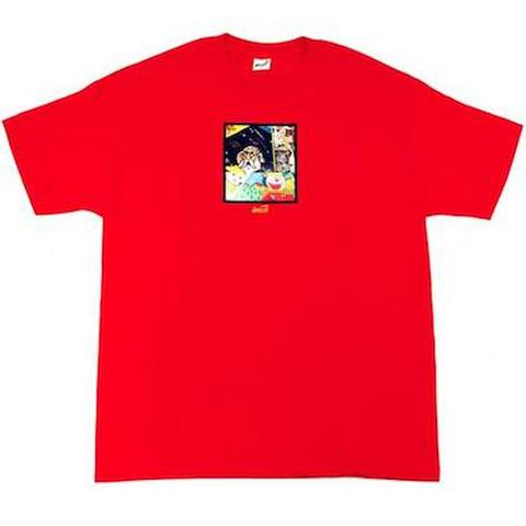 """SNACK SKATEBOARDS / '""""Memo Book""""TEE at by Bay Hill RED"""