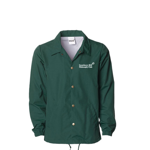 Strawberry Hill Philosophy Club / EMBROIDERED COACH JACKET GREEN
