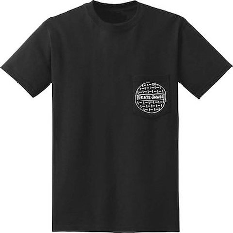SKATE JAWN MAGAZINE / Sketchy Sewer pocket tee black