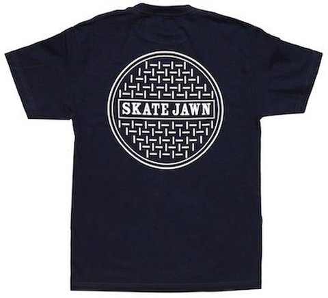 SKATE JAWN / SEWER CAP TEE - NAVY