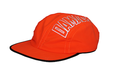 DAMAGE / 4 PANEL TECH CAP ORANGE