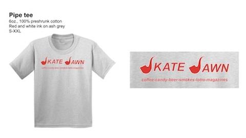 SKATE JAWN / PIPE TEE ASH GREY