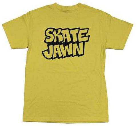 SKATE JAWN / Straight Letter Tee yellow
