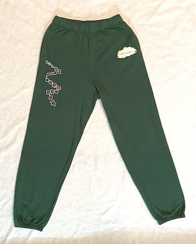 LOLA'S HARDWARE / ladder sweatpants green