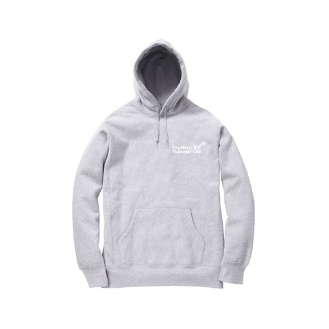 Strawberry Hill Philosophy Club / EMBROIDERED HOODIE WHITE HEATHER