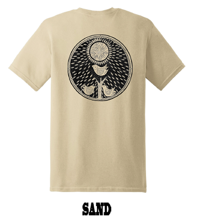 LOOPHOLE WHEELS / BIRDS EYE DEWPOINT TEE - SAND
