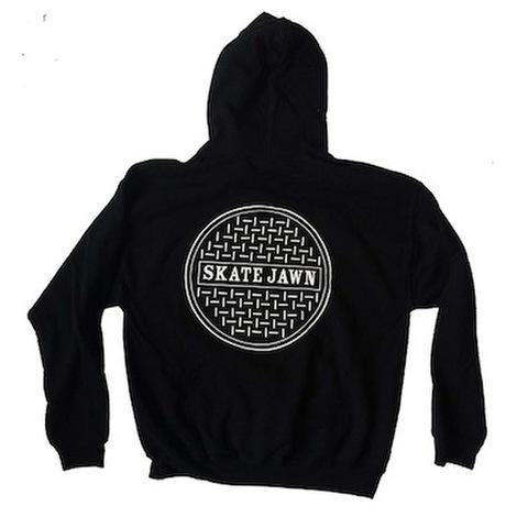SKATE JAWN / SEWER CAP HOODIE - BLACK
