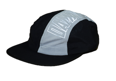 DAMAGE / 4 PANEL TECH CAP [BLACK/GREY]