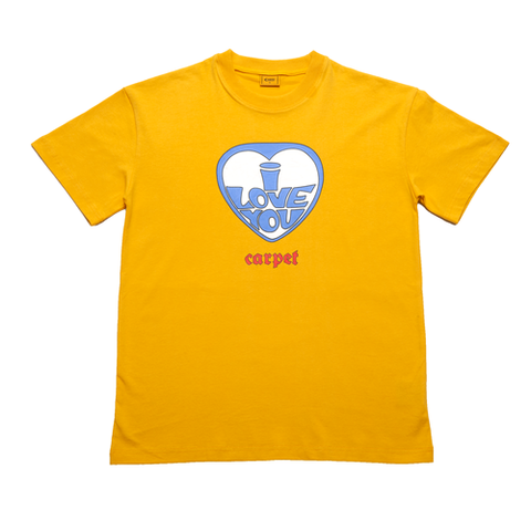 CARPET COMPANY / I LOVE YOU TEE MUSTARD