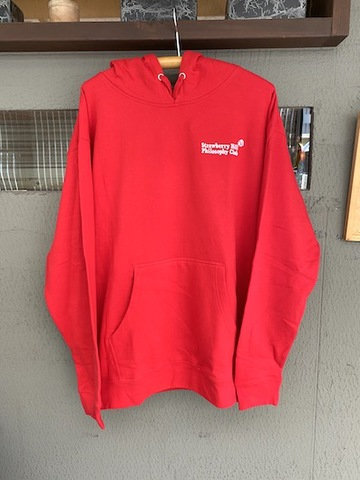 STRAWBERRY HILL PHILOSOPHY CLUB / EMBROIDERED HOODIE RED