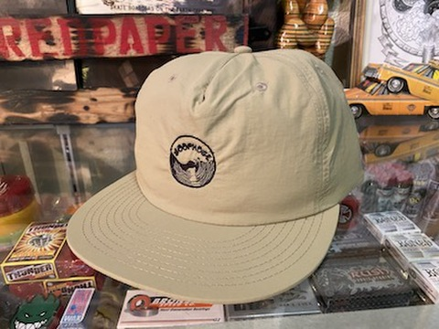 LOOPHOLE WHEELS / 'EMBROIDERED SURF CAP KHAKI