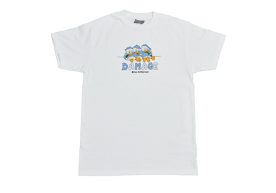 DAMAGE / HITS DIFFERENT TEE WHITE