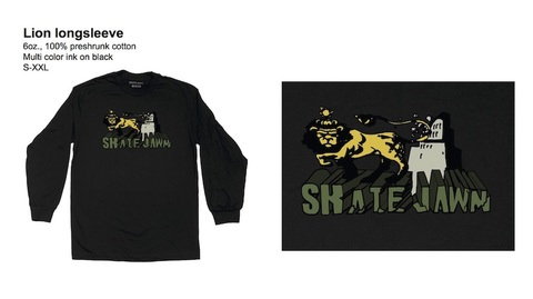 SKATE JAWN / Lion L/S tee