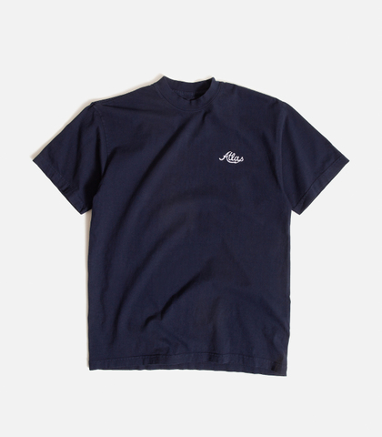 ATLAS / Embroidered Bofa T-Shirt - NAVY