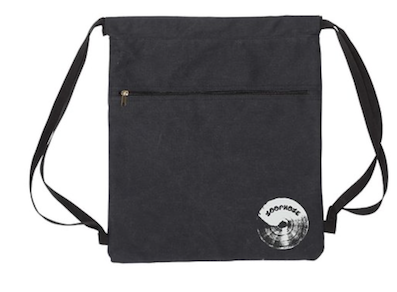 LOOPHOLE WHEELS / CANVAS BACKPACK- Black- with zip