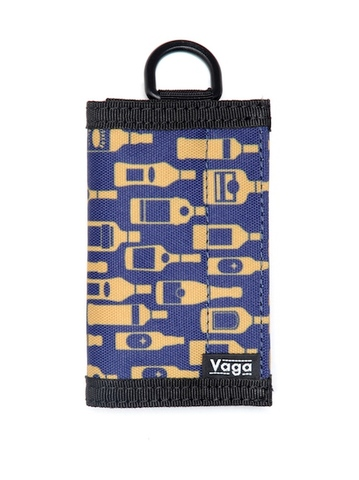 "VAGA / Nano Wallet ""Bottles"" navy"