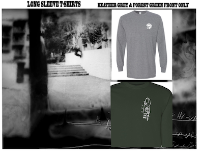 LOOP HOLE WHEELS / GLEN FOX GRAPHIC LONG SLEEVE TEE