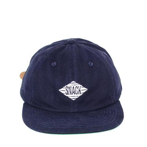 SNACK SKATEBOARDS / JIVE HAT - NAVY