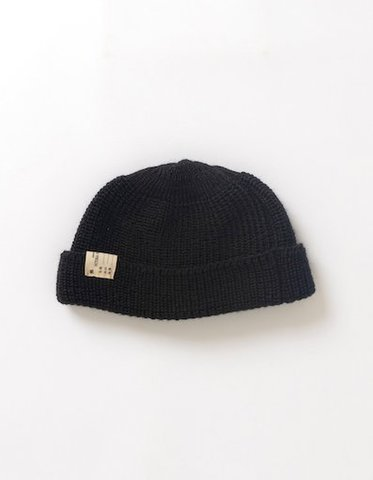 VICTORIA /  WATCH CAP BEANIE BLACK