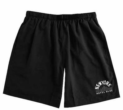 HOTEL BLUE SKATEBOARDS / SWIM SHORT BLACK