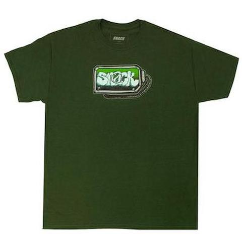 SNACK SKATEBOARDS / SCREEN TEE FOREST GREEN