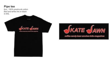 SKATE JAWN / PIPE TEE BLACK