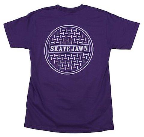 SKATE JAWN / Sewer cap tee purple