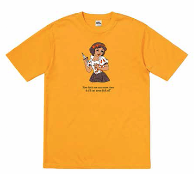 SIDECHICK HARDWARE / FUCK EYE TEE - ORANGE