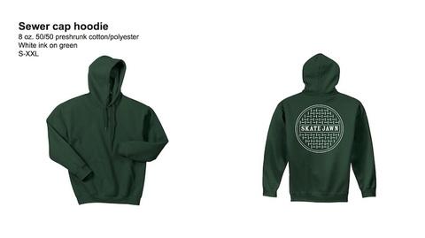 SKATE JAWN / Sewer Cap Hoodie GREEN
