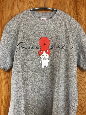 猫に蛸Tシャツ Lサイズ