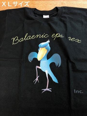 鶴のポーズをするハシビロコウTシャツ XLサイズ