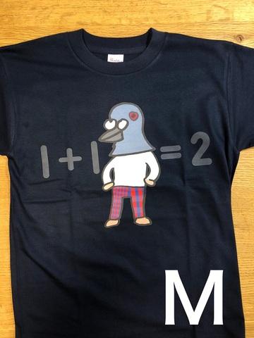ハトさんTシャツ Мサイズ ネイビー