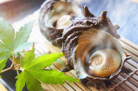 さざえ壺焼き(醤油味)