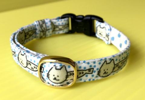 猫の首輪(青)鈴なし