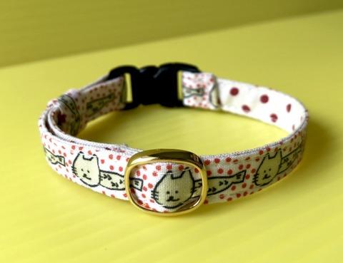 猫の首輪(赤)鈴なし