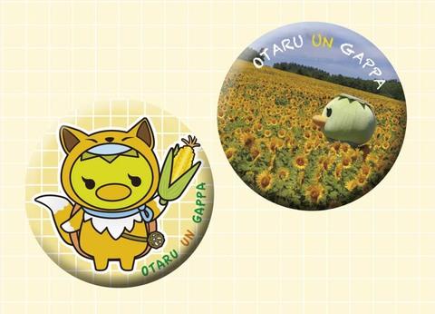 キタキツネさん&ひまわり畑カンバッジセット